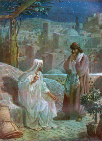 Jesus Counsels Nicodemus by William Hole